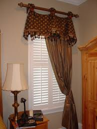 Stationary Curtain Rod Celebration Valance On Rod With Stationary Drapery Panel