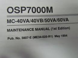 okuma osp700m mc 40va 40vb 50va 60va maintenance manual 1st