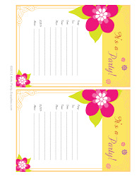 hawaiian party invitations free printable pool party pinterest