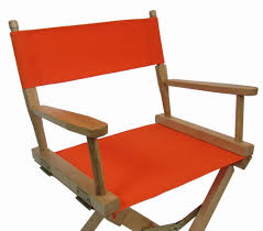 Orange Chair Sunbrella Directors Chair Replacement Cover Round Stick