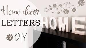 Home Decor Letters Lettere Per Decorare Casa Home Decor Letters Diy Youtube