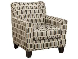 janley contemporary accent chair with geometric print fabric