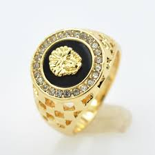 mens gold rings brand new high quality cz mens rings gold color