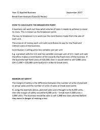 break even analysis calculator editable fillable u0026 printable