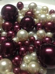 pearl vase fillers burgundy ivory decorative jumbo pearls vase fillers table