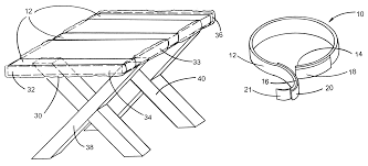 Elastic Picnic Table Covers Patent Us6381812 Outdoor Tablecloth Securing Device Google Patents