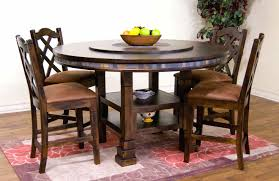 round kitchen table with built in lazy susan large round table