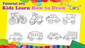 drawing cars kids learn type cars