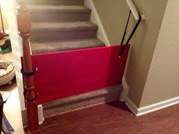 diy bottom of stairs baby gate w one side banister get a piece