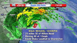 Map Of Hilton Head Sc Hurricane Matthew Still A Cat2 Storm Sitting Just Se Of Hilton