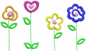 Flower Designs For Embroidery Simple Flower Design Free Download Clip Art Free Clip Art On