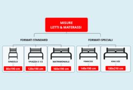 materasso standard misure materassi singolo matrimoniale francese e altri