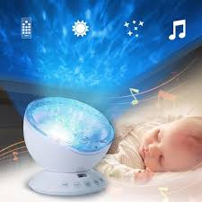 baby night light projector with music led star projector novelty lighting ocean kids baby nursery night