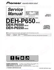 pioneer deh p6500 manuals