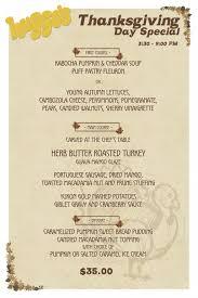 thanksgiving thanksgiving dinner at huggos dining big