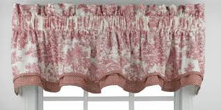 Toile Window Valances Victoria Park Toile Print Bradford Valance Window Curtain Window