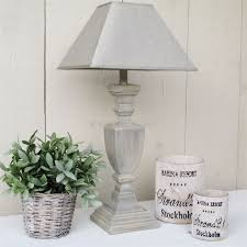 grey table lamp and lamp shade shabby chic pinterest grey