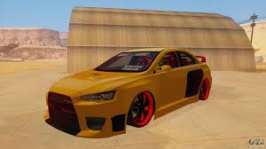 mitsubishi evo modded mitsubishi lancer evolution x for gta san andreas
