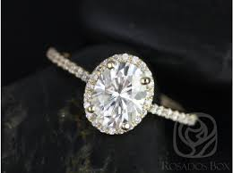 yellow gold oval engagement rings rosados box 8x6mm yellow gold oval f1 moissanite and