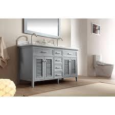 2 Sink Vanity Ariel Bath D061d Gry Kensington 61 Double Sink Vanity Set In Grey