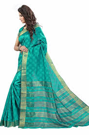 Buy Green Plain Cotton Silk Buy Green Plain Cotton Silk Saree With Blouse Online
