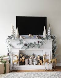 faux fireplace mantle with storage cabinets