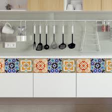 Kitchen Backsplash Decals Kitchen Portuguese Tiles Stickers Maceira Pack Of 16 Tile Decals