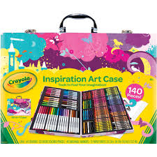 crayola inspiration art case with 140 pieces pink walmart com