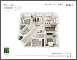 Eliot House Floor Plan by Models Floor Plans U2013 Woodland Station Apartments