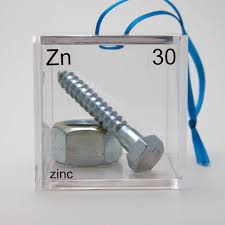 zinc periodic table of elements cube ornament tree decorations