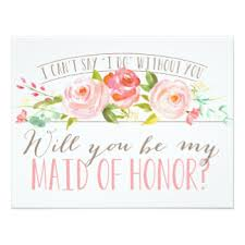 Asking Maid Of Honor Poem Will You Be My Bridesmaid Cards U0026 Invitations Zazzle Co Uk