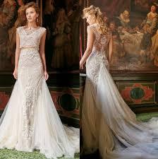 2016 two piece mermaid wedding dresses gorgeous stunning back