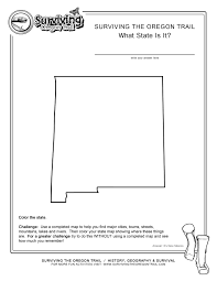 New Mexico Cities Map What State Is It New Mexico Kids Free Geography Worksheet