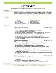 customer service resume simple customer service representative resume exle livecareer