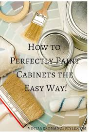 how to perfectly paint kitchen cabinets the easy way vintage