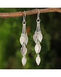 thailand earrings spectacular deal on sterling silver dangle earrings leaf chimes