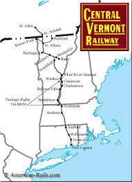 new england central railroad map the central vermont railway railroad maps pinterest vermont