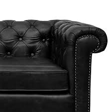 Chesterfield Sofa Dimensions by Jacob Chesterfield 3 Seater Sofa Black Leather The Yellow Door