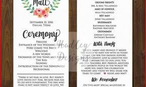 wedding bulletin templates best wedding program templates