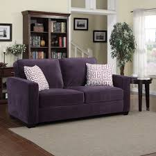 Plum Leather Sofa Furniture Warm Purple Sofa To Complete Your Living Room Decor