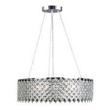 Plastic Crystals For Chandeliers Cassiel Crystal Drum Chandelier Black Contemporary Pendant With