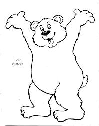 4 best images of brown bear printable template polar bear