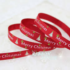 christmas ribbon wholesale 3 8 9 10mm printed grosgrain ribbon merry christmas satin