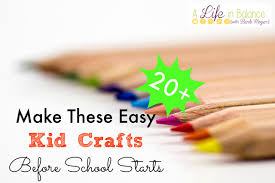 make these easy kid crafts before starts