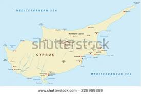 map of cyprus cyprus map stock vector 228969889