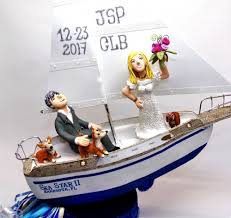 boat cake topper all my faves