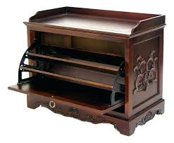 Entryway Bench And Shelf 2 In 1 Wooden Shoe Cabinet Ottoman Storage Entryway Benches