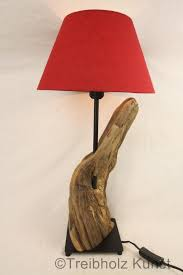 Retro Wohnzimmerlampe Treibholz Lampe Mit Schirm Www Treibholz Bodensee De