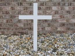 roadside memorial crosses for sale roadside memorial cross heavy duty steel 48 x 16 wide ebay