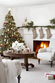 christmas livingroom country christmas decorating oval white marble coffee table fancy